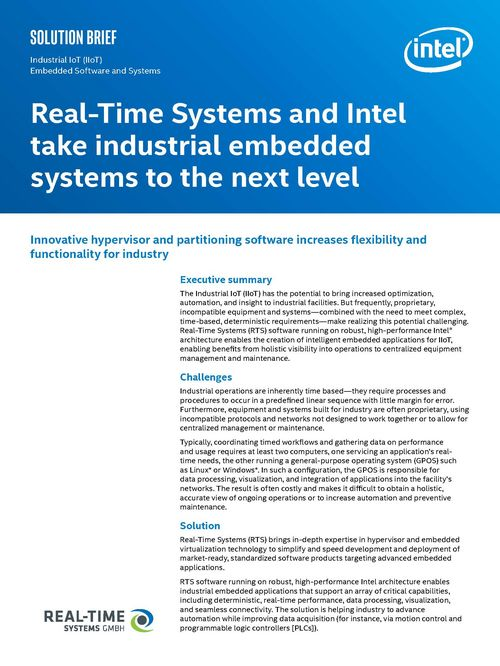 Intel & Real-Time Systems Whitepaper - congatec AG